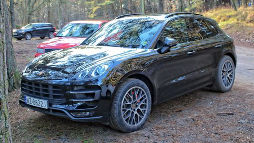 A stock image of a 2015 Porsche Macan, similar to the vehicle that was stolen.
