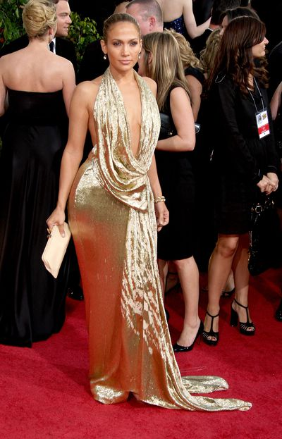 Jennifer Lopez in Marchesa at the 2009 Golden Globe Awards in Los Angeles