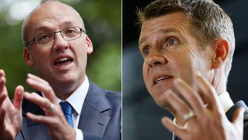 NSW opposition leader Luke Foley and Premier Mike Baird. (AAP)