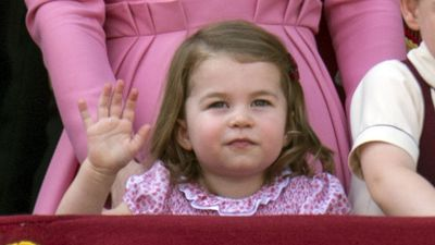 Princess Charlotte at Trooping the Colour, June 2017