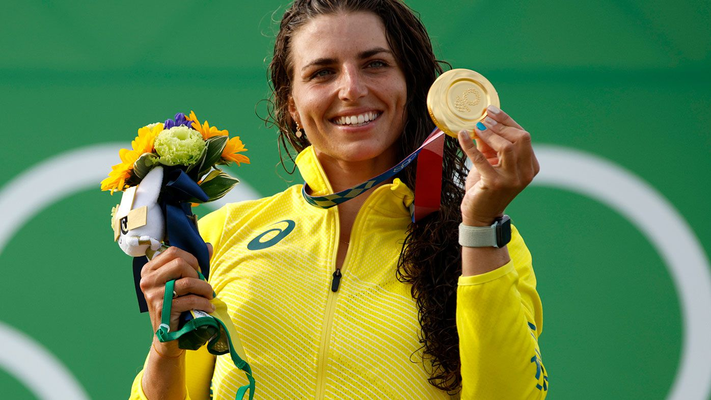 Jess Fox claimed gold in the C1 slalom at the Tokyo Olympics.