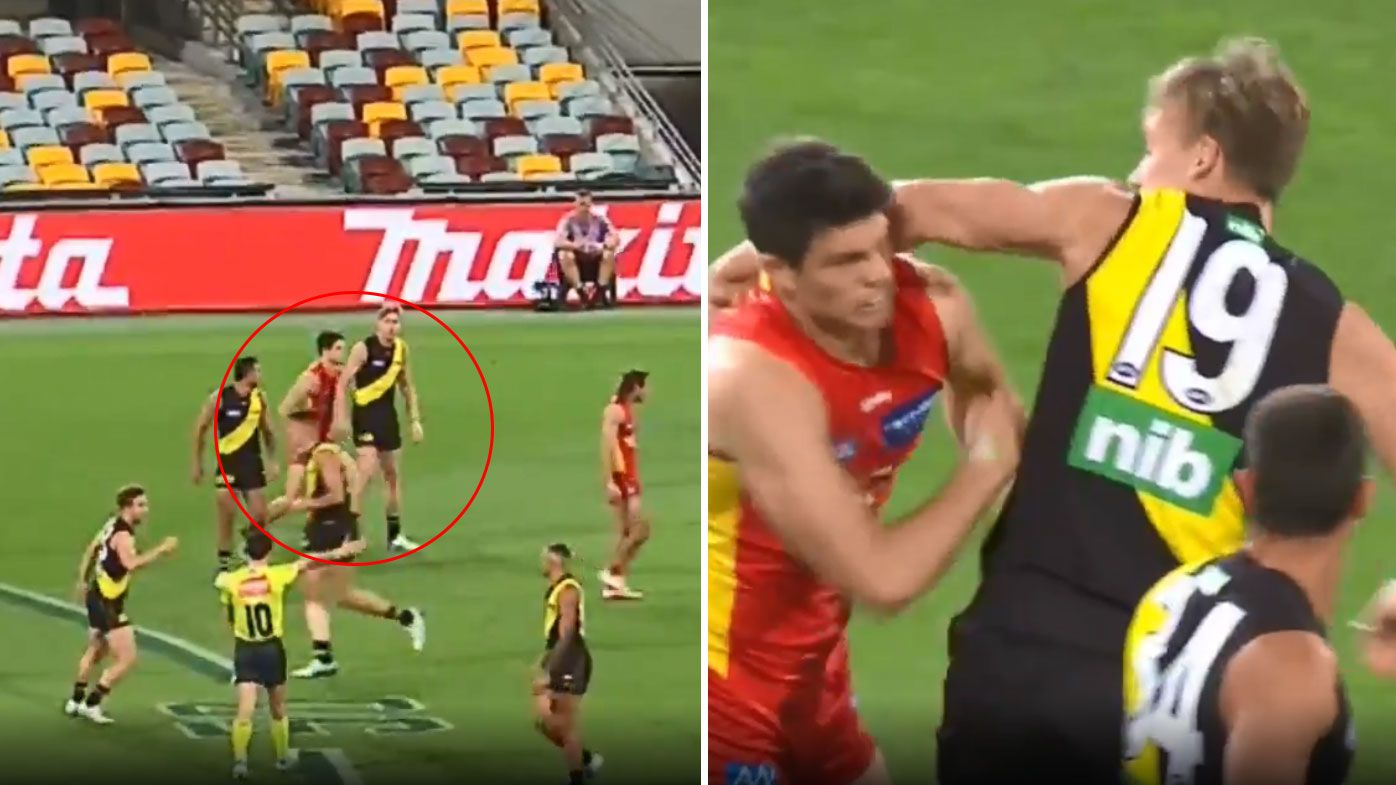 'Pick your moments': Matthew Lloyd's advice to Tom Lynch as footage reveals Suns star started off-ball hits