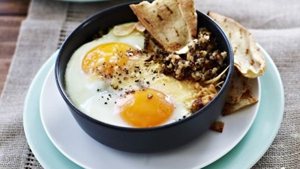 Baghdad eggs with quinoa