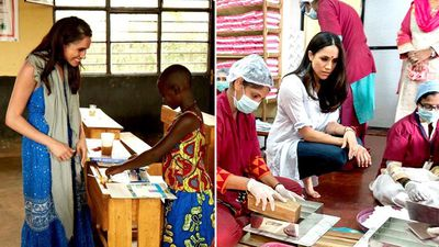 Sussexes share throwback to Meghan's charity work before she was a royal