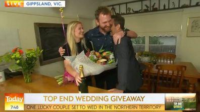 Shocked couple wins Northern Territory wedding on Today