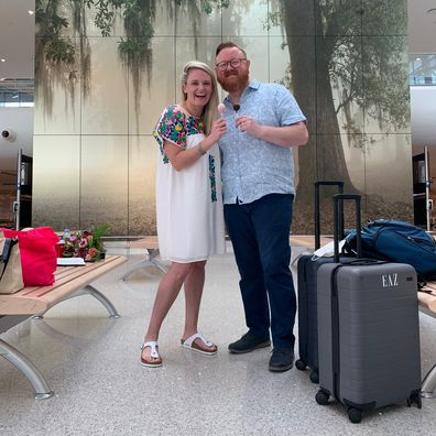 Couple wed in airport terminal