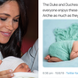Fake photos claiming to be baby Archie posted to social media