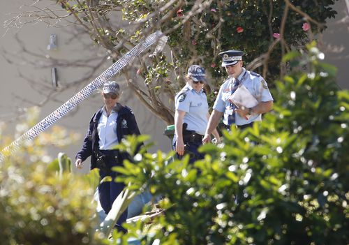 Police established a crime scene at the Northern Beaches home and Woszatka was arrested a kilometre away.