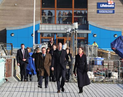 Prince William Kate Middleton visit south Wales RNLI's Mumbles Lifeboat Station
