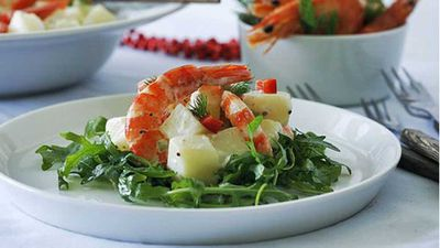 """Seafood is synonymous with romance. Prawns scream decadence and celebration, like our <a href=""""http://kitchen.nine.com.au/2016/05/05/14/11/festive-tiger-prawn-and-potato-salad"""" target=""""_top"""">festive tiger prawn and potato salad</a> recipe"""