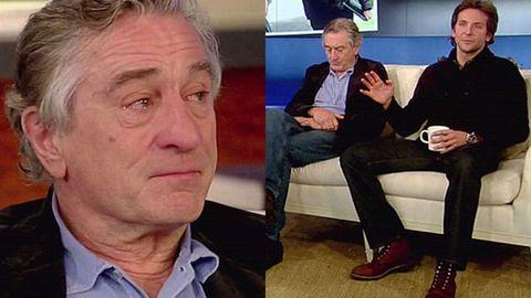 Watch: Robert De Niro breaks down during TV interview