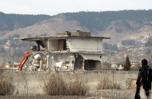 A file photo of the Pakistan compound where Osama bin Laden was killed during a daring US military raid in 2011.