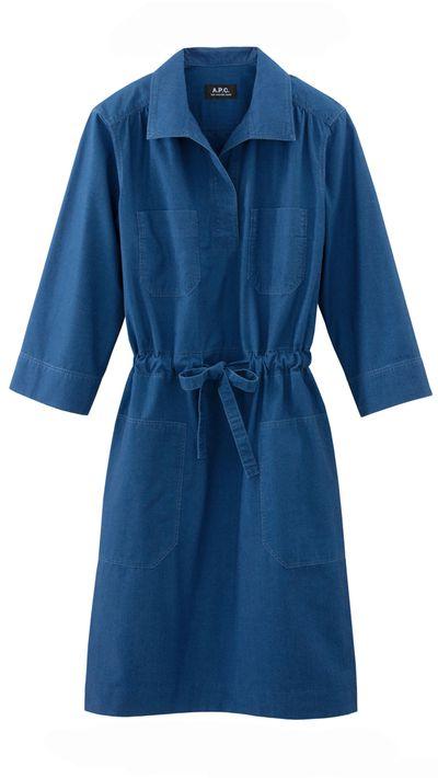 """<a href=""""http://usonline.apc.fr/"""" target=""""_blank"""">Dress, $345, A.P.C.</a>"""