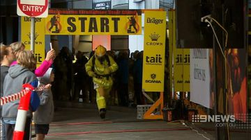 VIDEO: Annual Melbourne stair climb proves a worthy cause