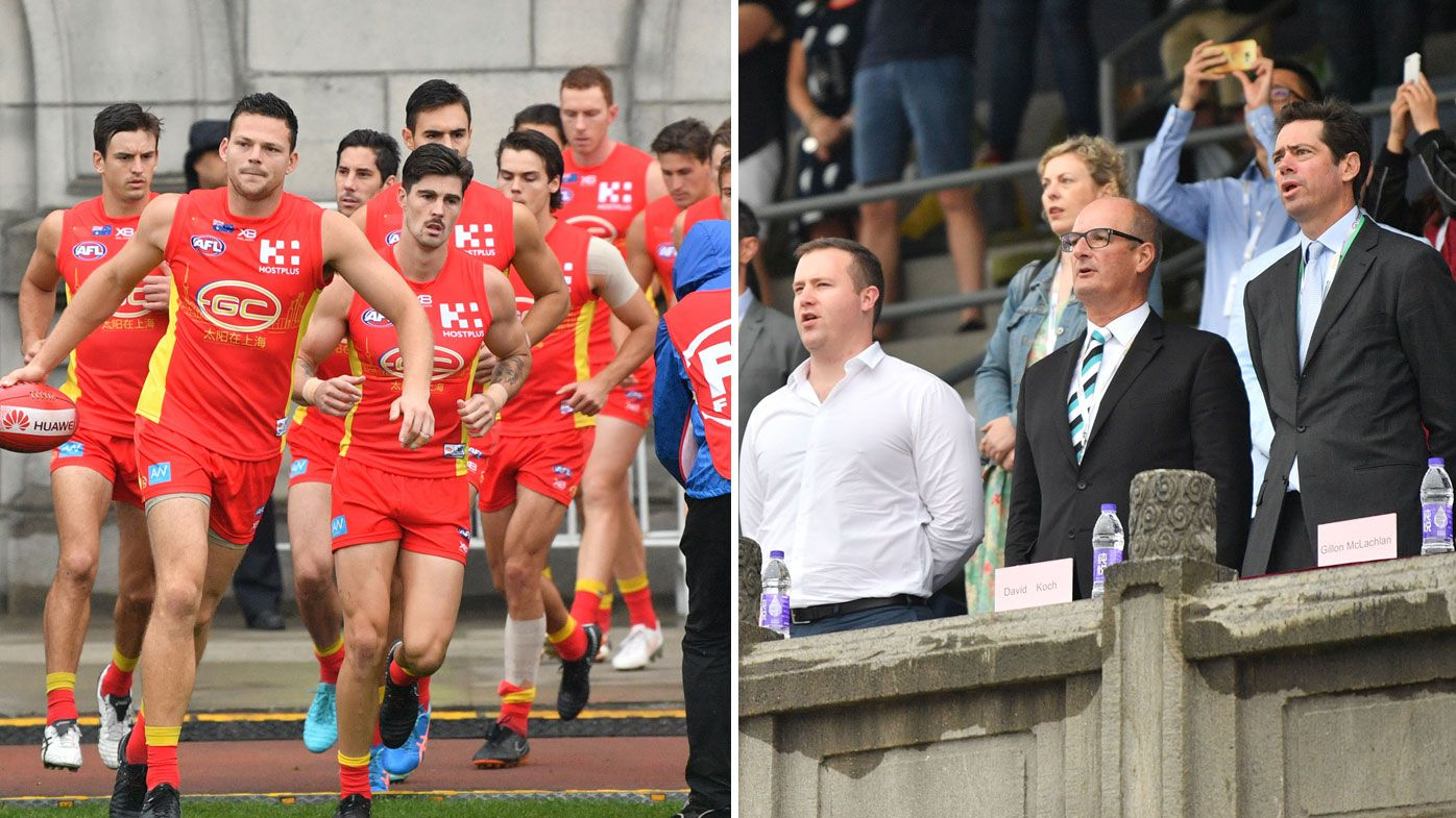 AFL: Gold Coast Suns not keen on return to China