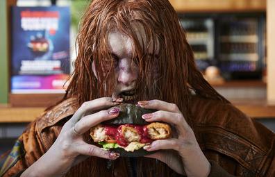 Grill'd zombie inspired BINGE Brain Burger