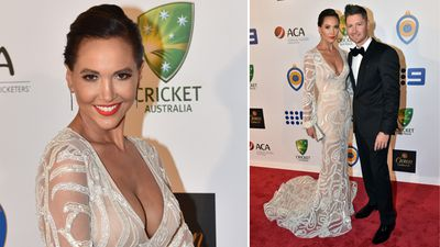 <p>The Australian cricket community has come together at Melbourne's Crown Casino for the Allan Border Medal. </p><p>Before the the ceremony, the players and their partners hit the red carpet, including former captain Michael Clarke and wife Kyly (pictured).</p><p><strong>Click through for more pictures from the night.</strong></p>