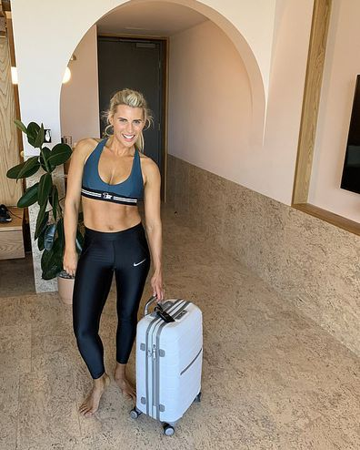 Tiffany Hall shared her 'suitcase workout' to Instagram.