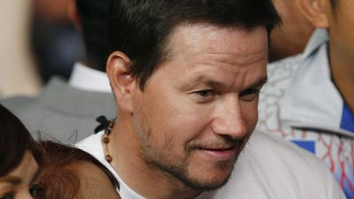 Actor Mark Wahlberg in the crowd before the start of the world welterweight championship bout between Floyd Mayweather Jr and Manny Pacquaio in Las Vegas. (AAP)