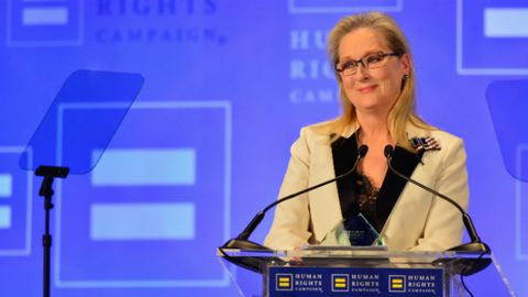 Meryl Streep admonished US President Donald Trump for his Twitter tirades.