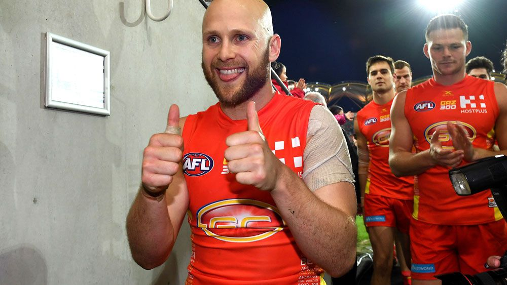 Gary Ablett's 300th AFL match ended with a win. (AAP)