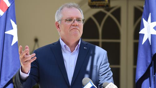 PM Scott Morrison press conference at Kirribilli House on the 12th of September 2021.  Photographer: Jacky Ghossein/SMH