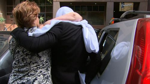The accused outside court with his mum today.