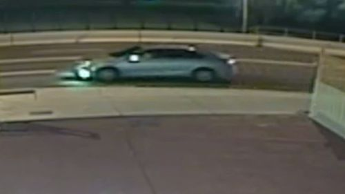 Police believe the silver-coloured vehicle is either a Toyota Camry or Aurion. (Victoria Police)