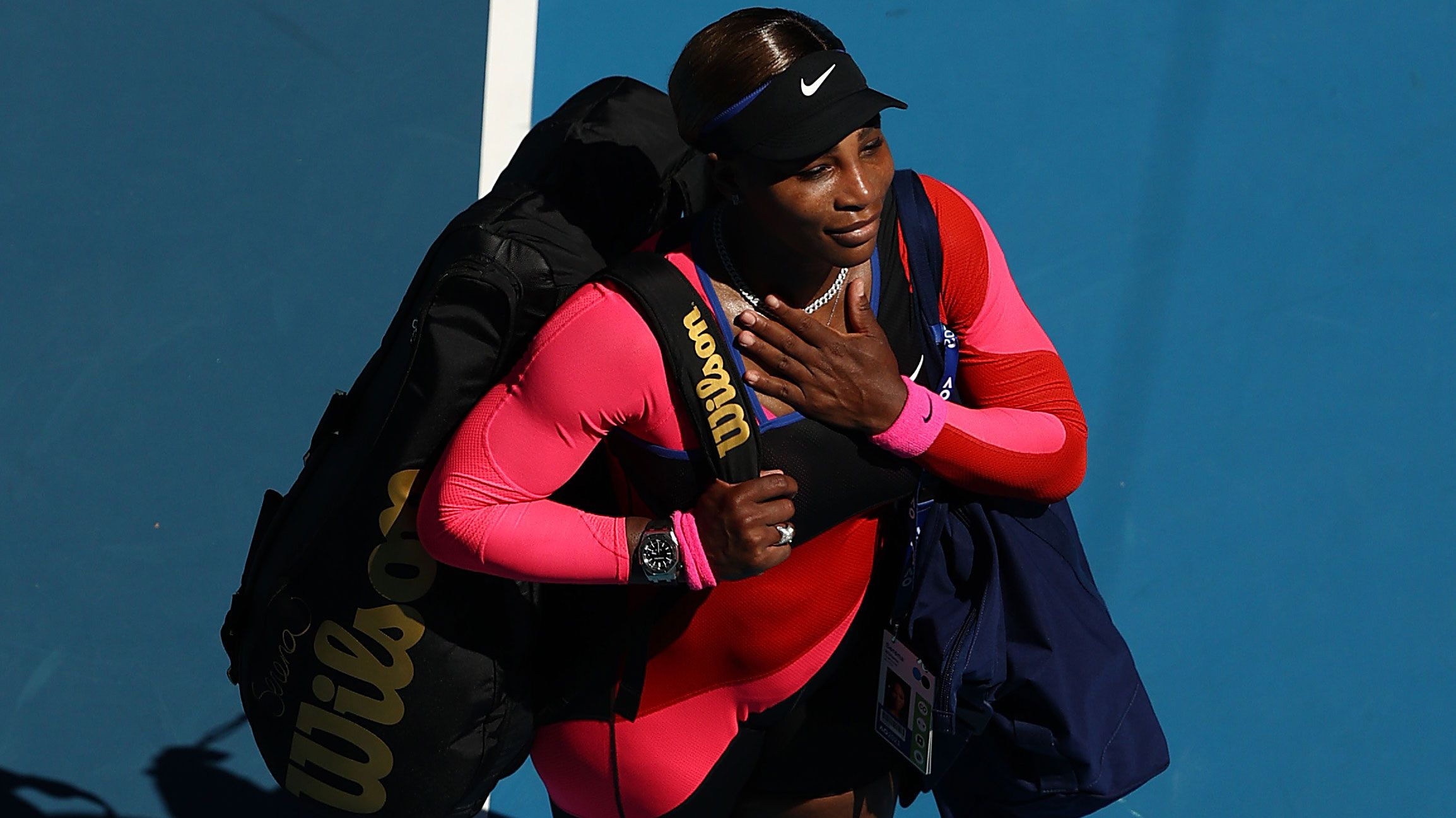 Serena Williams says an emotional farewell to the Australian Open crowd.