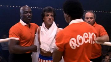 Tony Burton (left) played Rocky Balboa's trainer in several films in the franchise.