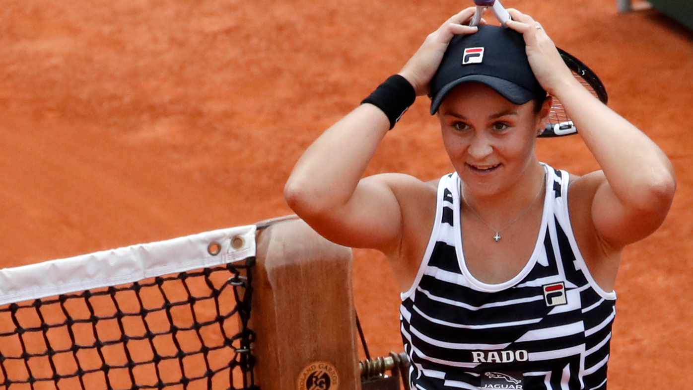 Ashleigh Barty in shock after winning the French Open