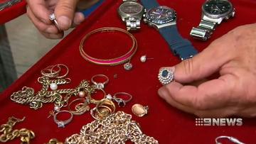 Jewellery is often left behind.