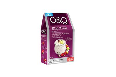 O&G Bircher Muesli — Cranberry, Almond and Quinoa: well over 1 teaspoon of sugar
