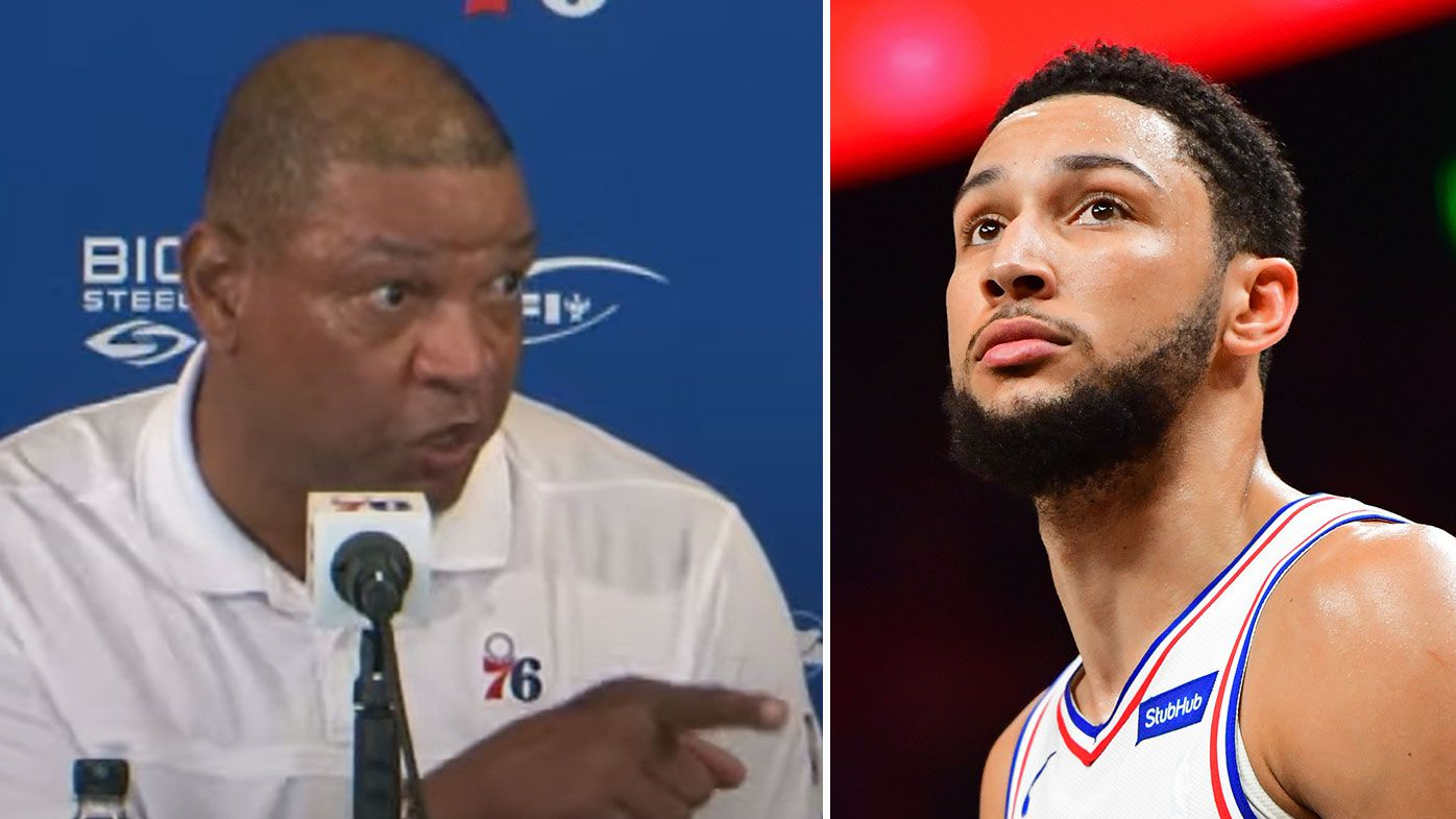 76ers coach fires up over Simmons question