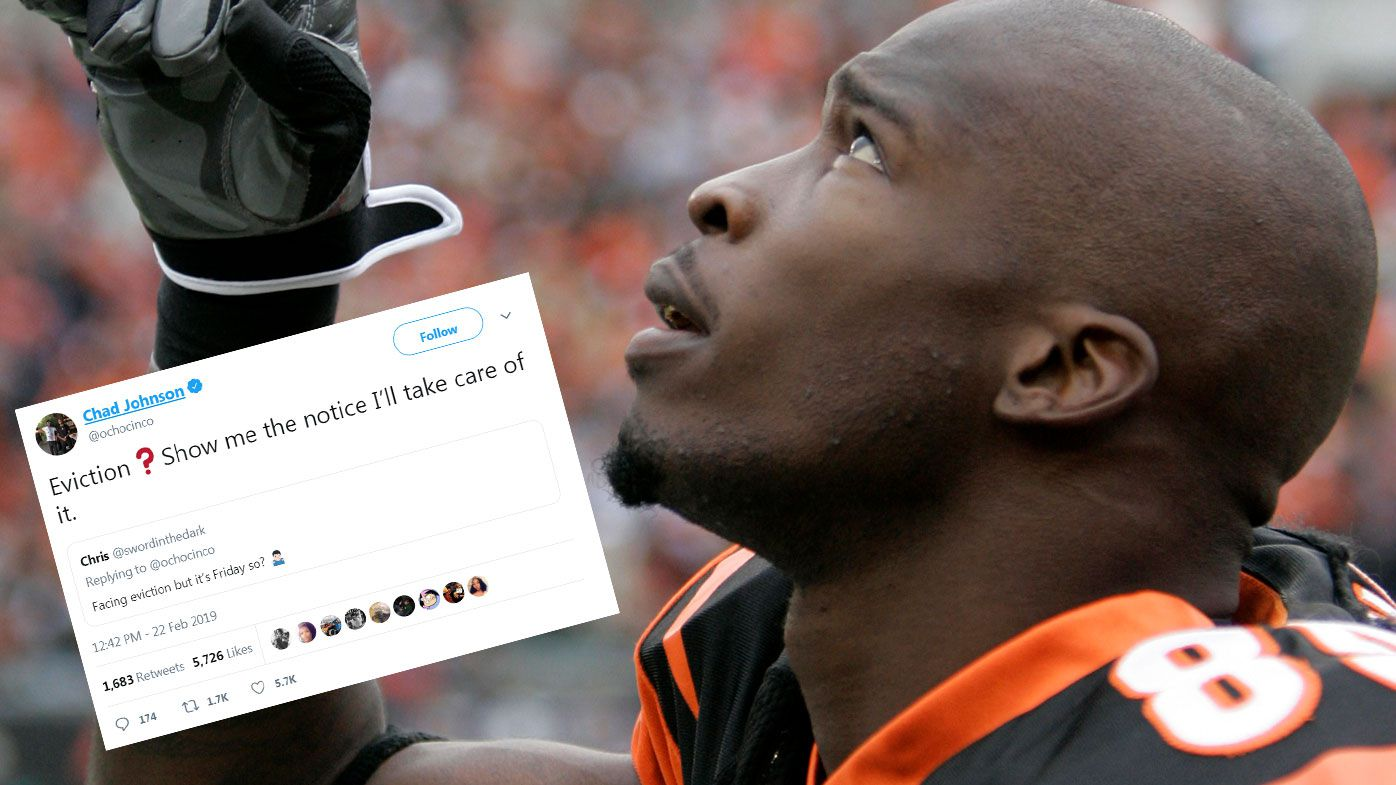 Former NFL great Chad 'Ochocinco' Johnson saves Twitter follower from eviction with selfless act