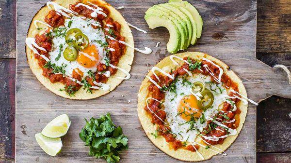 Huevos rancheros egg wraps