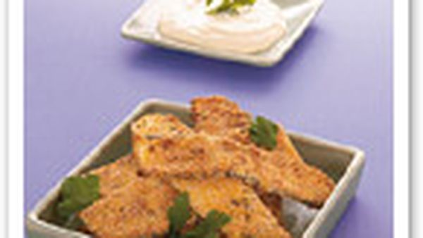 Oven-baked zucchini schnitzels