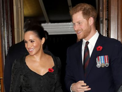 Duchess of Sussex and Duke of Sussex attend the annual Royal British Legion Festival of Remembrance at the Royal Albert Hall