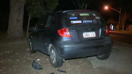 Police smashed the window to remove a 61-year-old from the Hyundai.