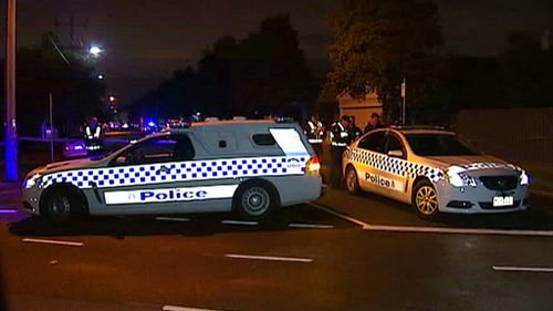 Police have cordoned off the area as a crime scene. (9NEWS)