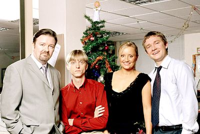 """<I>The Office</I>, often hailed as TV's best comedy ever, ended with a two-part Christmas special that tied up all the loose ends. Set three years after the previous episode, the special catches up with office drones David Brent (Ricky Gervais), Tim (Martin Freeman), Dawn (Lucy Davis ) and Gareth (Mackenzie Crook). The best bit comes when Dawn finally leaves her brutish boyfriend for Tim after he encourages her to """"never give up"""" on her dream of becoming an illustrator, and she pashes him on the dance floor at the office Christmas party. Sniff!"""