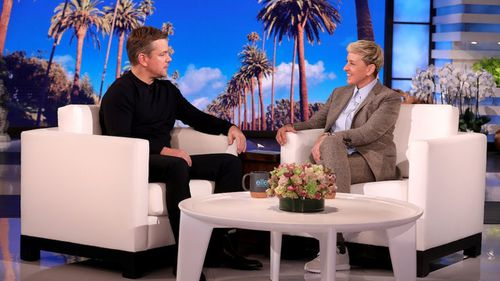 Matt Damon talked Carnarvon up when he spoke about his family visit to Australia with talk show host Ellen Degeneres.