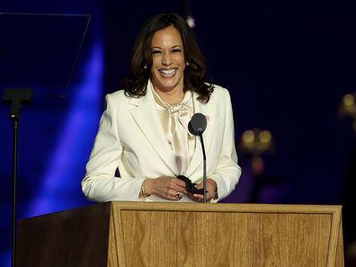 Kamala Harris speaks at Joe Biden victory rally 2020