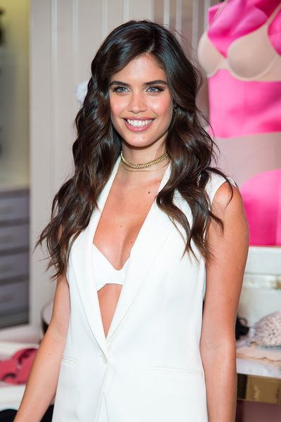 Sara Sampaio celebrates the T-Shirt Bra Collection at Victoria's Secret, Fifth Ave on July 18.