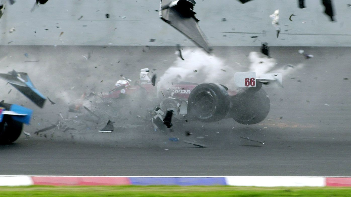 Alex Zanardi is seriously injured during a crash in a race in Germany in 2001.