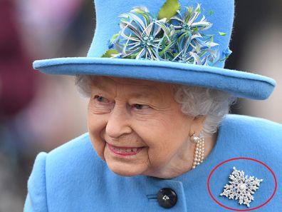 Queen Elizabeth leaves church in Sandringham on Sunday