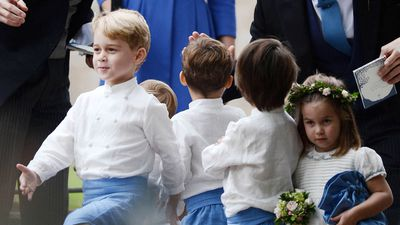 Prince George was the ultimate page boy at family friend's wedding, September 2018