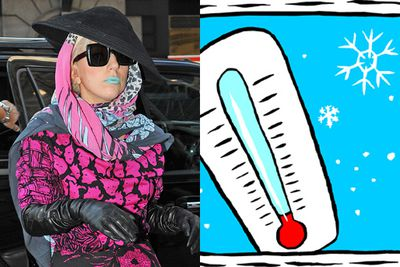 Gaga's blue lips are channeling a person suffering from hypothermia. <p><b>Image</b>: Getty