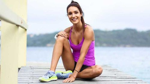Instagram-famous personal trainer Kayla Itsines has also joined the mobile app success stories to come from Australia with her fitness app 'Sweat', which has been downloaded more than 30 million times. Picture: Supplied.