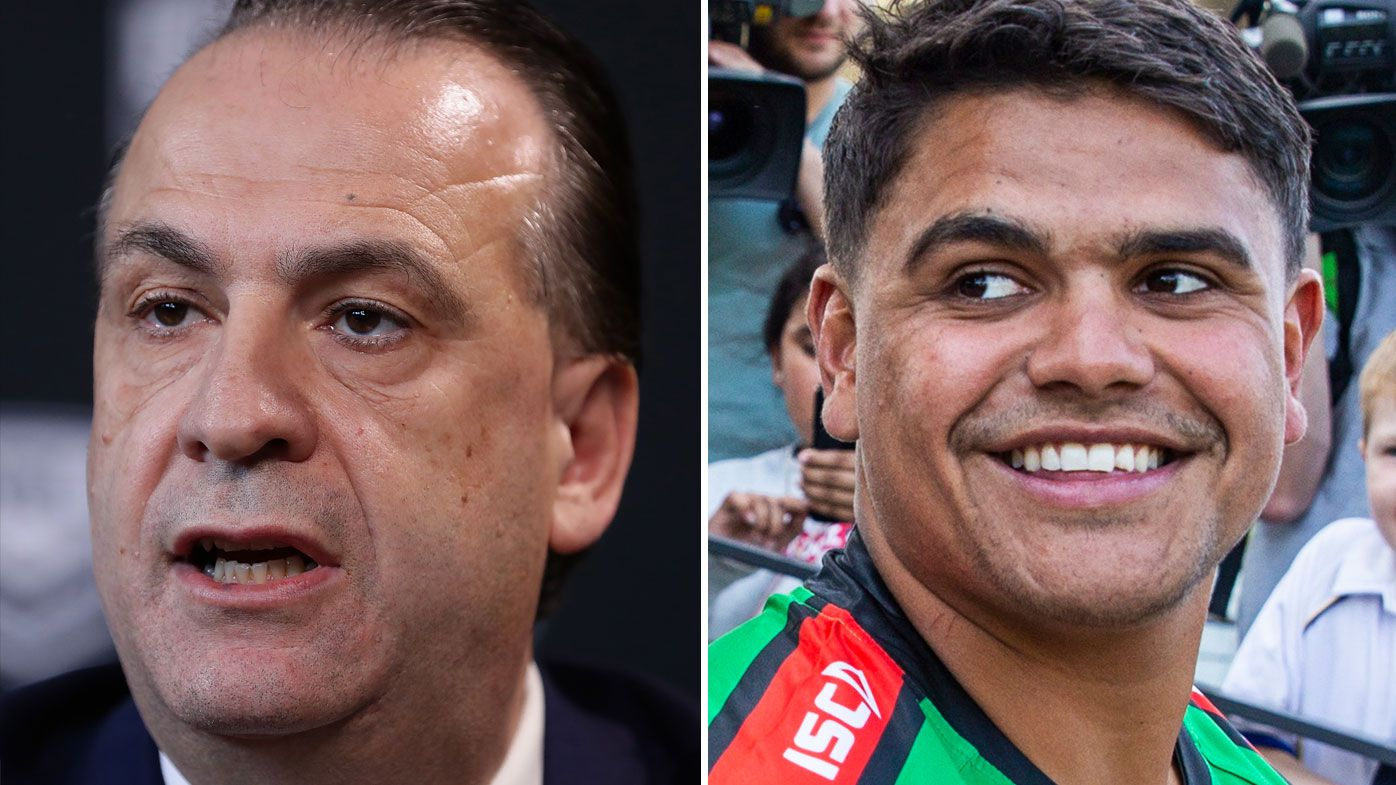 EXCLUSIVE: Peter V'landys goes in to bat for Latrell Mitchell ahead of Roosters showdown